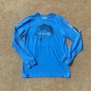Hurley long sleeve tee shirt. Sz M.